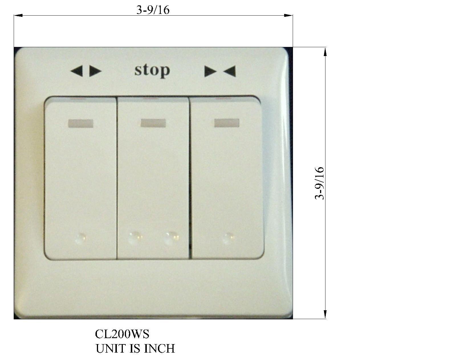 3 Button Wall Switch for Electric Roller Blinds